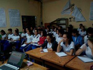Charla Sobre Yo Se-Pa-Ro En El Escuela Nacional De Comercio Dr. Raúl Peña