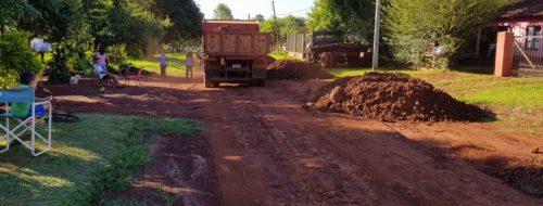 Enrripiado Realizados En Simultáneo Hohenau 4 En Su Totalidad, Itapesyi, Ramales Hohenau 5 , Barrio …